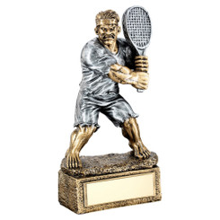Brz/Pew Tennis 'Beasts' Figure Trophy - 6.75In