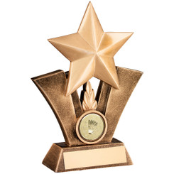Brz/Gold Generic Star With Badminton Insert Trophy - 5In