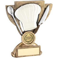 Brz/White/Silver Cooking Mini Cup Trophy (1In Centre) - 6In