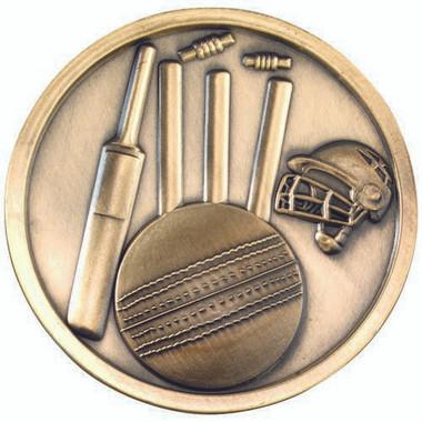 Cricket Medallion - Antique Gold 2.75In