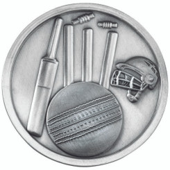 Cricket Medallion - Antique Silver 2.75In