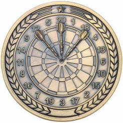 Darts Medallion - Antique Gold 2.75In