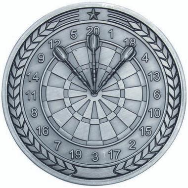 Darts Medallion - Antique Silver 2.75In