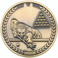 Pool/Snooker Medallion - Antique Gold 2.75In