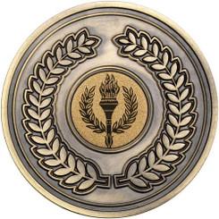 Wreath Medallion (1In Centre) - Antique Gold 2.75In