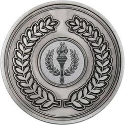 Wreath Medallion (1In Centre) - Antique Silver 2.75In