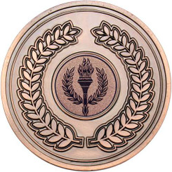 Wreath Medallion (1In Centre) - Bronze 2.75In