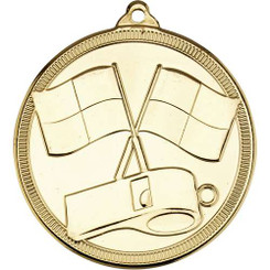 Referee 'Multi Line' Medal - Gold 2In