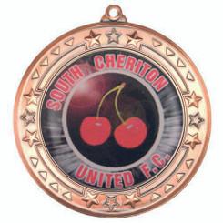 Tri Star Medal (2In Centre) - Bronze 2.75In