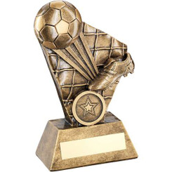 Brz/Gold Football/Boot Strike Series Trophy - (1In Centre) 6.25In
