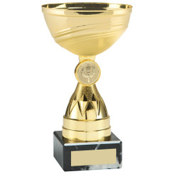 Gold Mini Diamond Stem Trophy (1In Centre) - 7In
