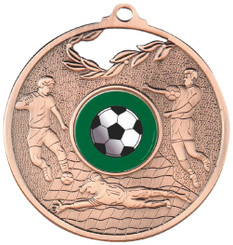 70mm Men's Football Medal - Bronze
