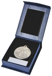45mm Silver Football Medal - Silver
