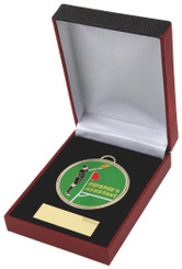 Enamel Football Referee's Assistant Medal in Case - 60mm
