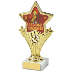 Fun Customisable Star Awards - HOUSE RED