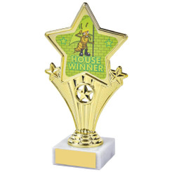 Fun Customisable Star Awards - HOUSE YELLOW