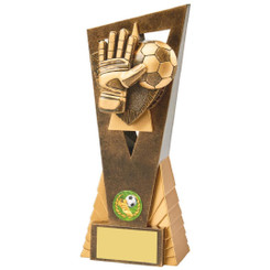 Antique Gold Football Goalie Edge Award - 21cm