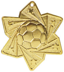 Football Star Medal (60mm) - Gold