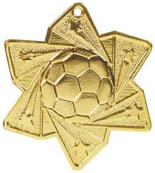Football Star Medal (60mm) - Gold