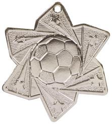 Football Star Medal (60mm) - Silver