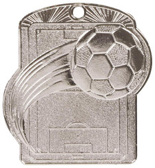 Football Pitch Medal (55mm) - Silver