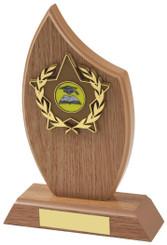 "Light Wood Effect Sail Award - TW18-117-161BP - 16.5cm (6 1/2"")"