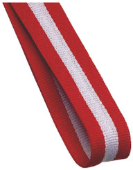 22mm Width Medal Ribbon - Red/White/Red