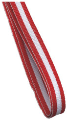 10mm Medal Ribbon - Red/White/Red