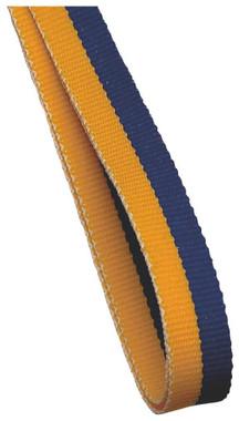10mm Medal Ribbon - Gold/Blue