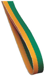 10mm Medal Ribbon - Gold/Green