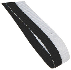 10mm Medal Ribbon - Black/White