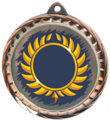 60mm Colour Print Sports Medal - Multi - Bronze