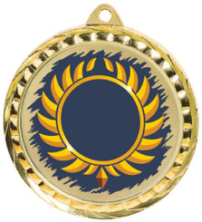 60mm Colour Print Sports Medal - Multi - Gold
