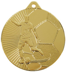 45mm Football Medals - Gold