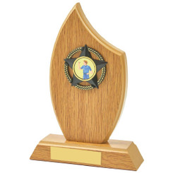 "Light Oak Sail Wood Trim Award - 19cm (7 1/2"")"