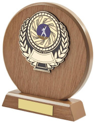 "Light Wood Circle Sports Award - 18cm (7"")"