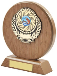 "Light Wood Circle Sports Award - 16cm (6 1/4"")"