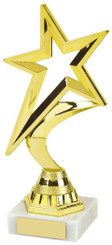 """Gold Shooting Star Trophy - TW18-107-452A - 20cm (8"""")"""
