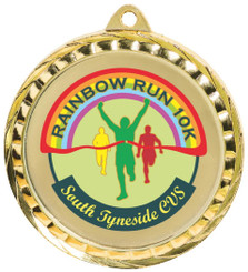 60mm Medal with Colour Print - TW18-130-PMD064S