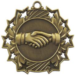 60mm Stars Friendship Medal - Gold