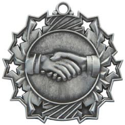 60mm Stars Friendship Medal - Silver