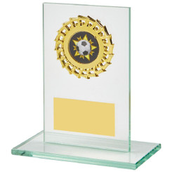 Jade Glass Stand with Gold Trim Award - 12cm