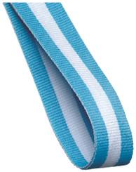 22mm Width Medal Ribbon - Lt. Blue/White Lt. Blue
