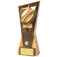Antique Gold Rugby Ball Edge Award - 21cm