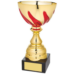 Gold/Red Bowl Award on Black Marble - 25cm
