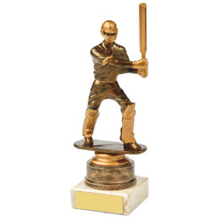 Antique Gold Cricket Batsman Award - 18cm