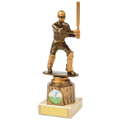 Antique Gold Cricket Batsman Award - 20cm
