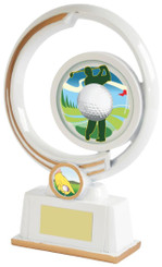 "White Resin Men's Golf Award - TW18-154-641ZBP - 19cm (7 1/2"")"