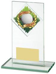 "Jade Glass Nearest the Pin Golf Award - TW18-156-459ZAP - 14cm (5 1/2"")"