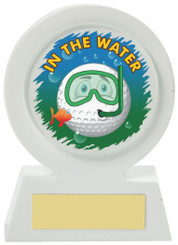 """White Resin Golf Collectable - Water - TW18-168-663ZAP - 11cm (4 1/4"""")"""